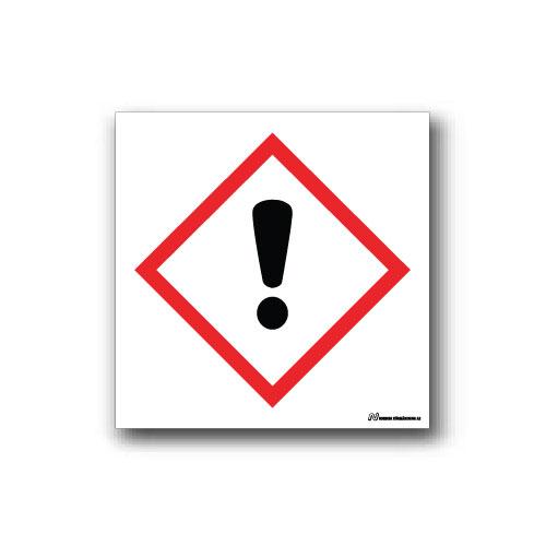 Faropiktogramskylt med farosymbol för skadliga ämnen