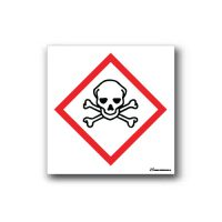 Faropiktogramskylt med giftig farosymbol