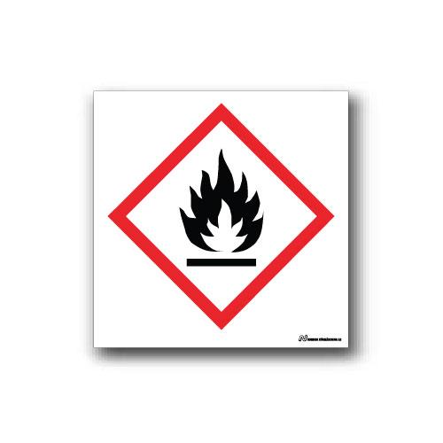 Faropiktogramskylt med farosymbol för miljöfara