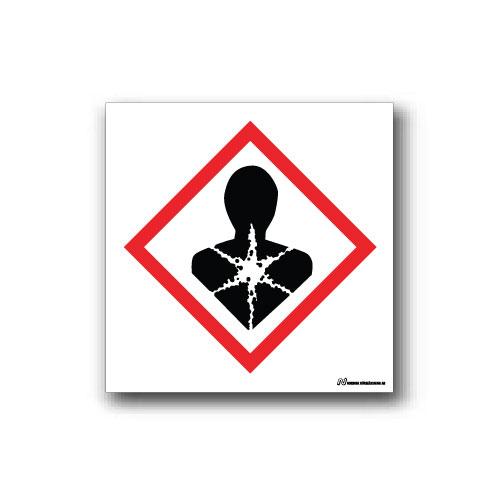 Faropiktogramskylt med farosymbol för hälsofarliga ämnen