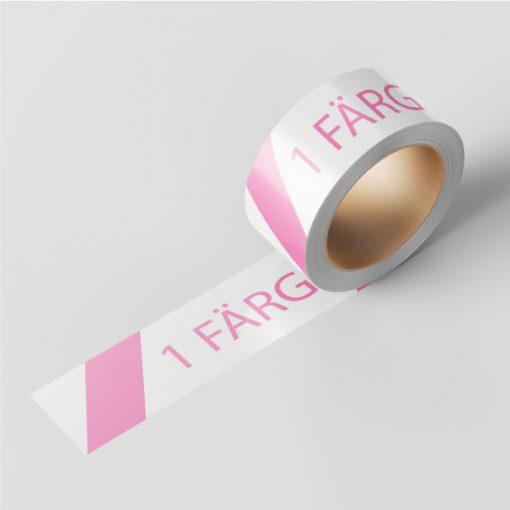 Packtejp med eget tryck med 1 färg.